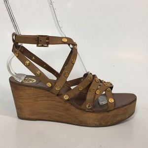 Tory Burch Leather Strappy Sandals • Sz 8.5